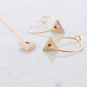 DEBOSC Conjunto aros triángulo de oro y haya