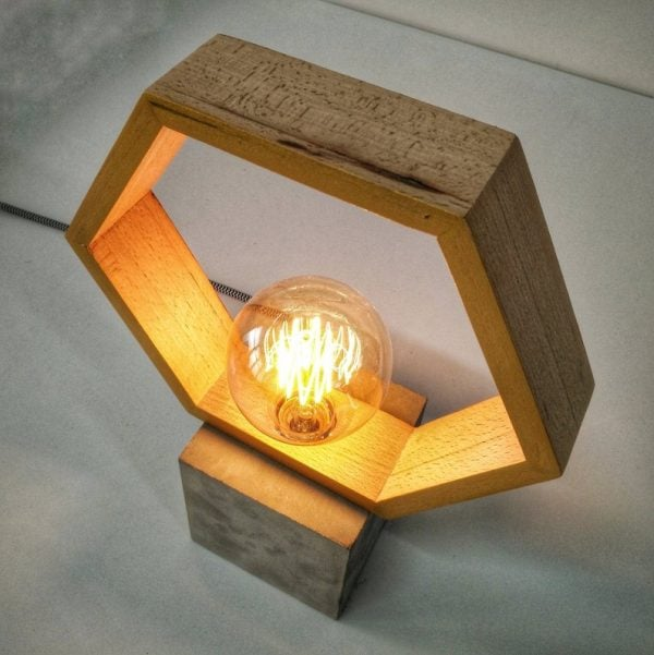 Eunadesigns lampara hexagonal 1