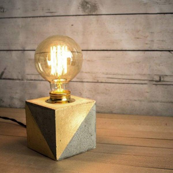 eunadesign lampara tierra cubo cemento dorado 2