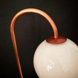 eunadesigns Lampara globo de vidrio detalle cobre y vidrio