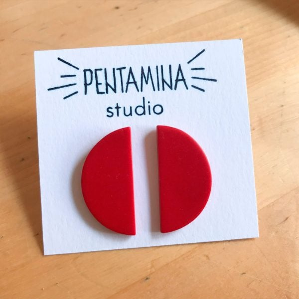 Pentamina Studio Pendientes Media luna