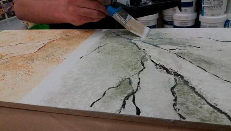 Cómo hacer imitación de mármol en madera 4