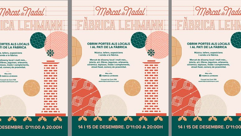 Mercado Navideño Fábrica Lehmann cartel
