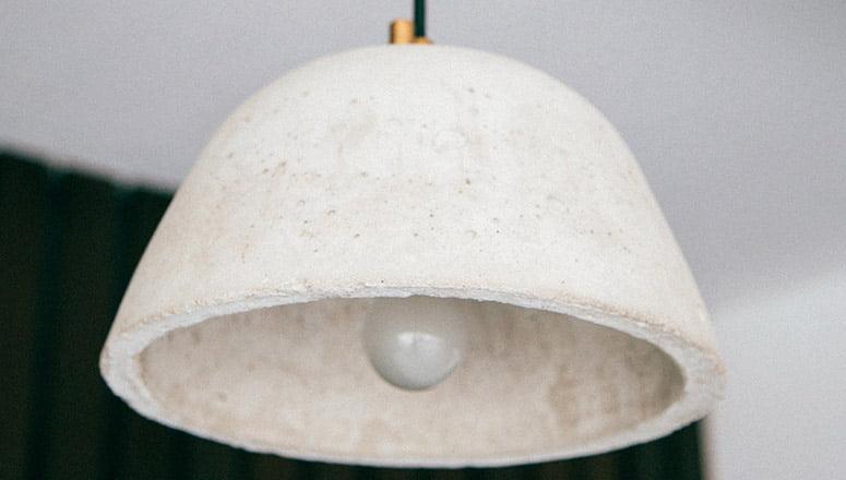 Lámpara de cemento 1
